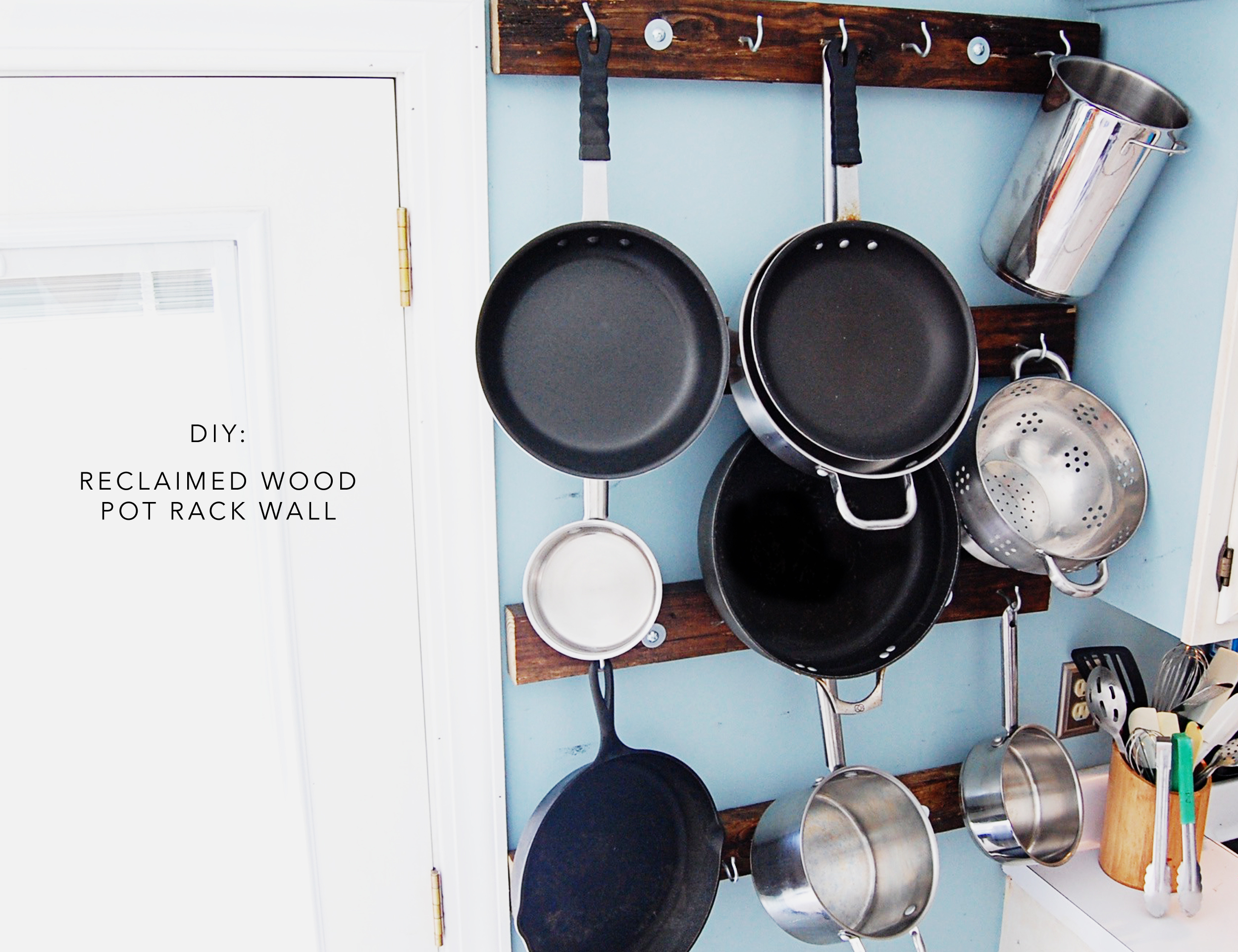 Reclaimed wood pot rack wall curated domain for Reclaimed wood pot rack